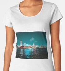 Yokohama Neon Waterline Women's Premium T-Shirt