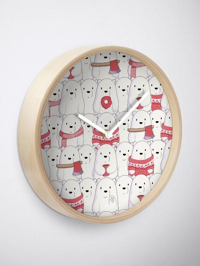 Alternate view of Ice Bear's sweater weather Clock
