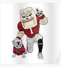 UGA & Hairy Dawg Poster