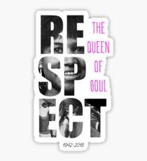 Aretha Respect Tribute Sticker
