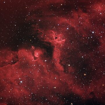 Star forming region, Soul Nebula in constellation Cassiopeia by LukeSzczepanski