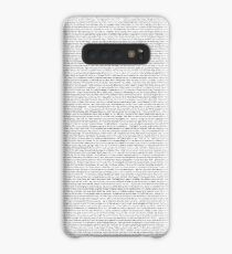 entire shrek script Case/Skin for Samsung Galaxy