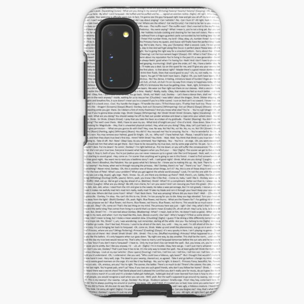 entire shrek script Samsung Galaxy Tough Case