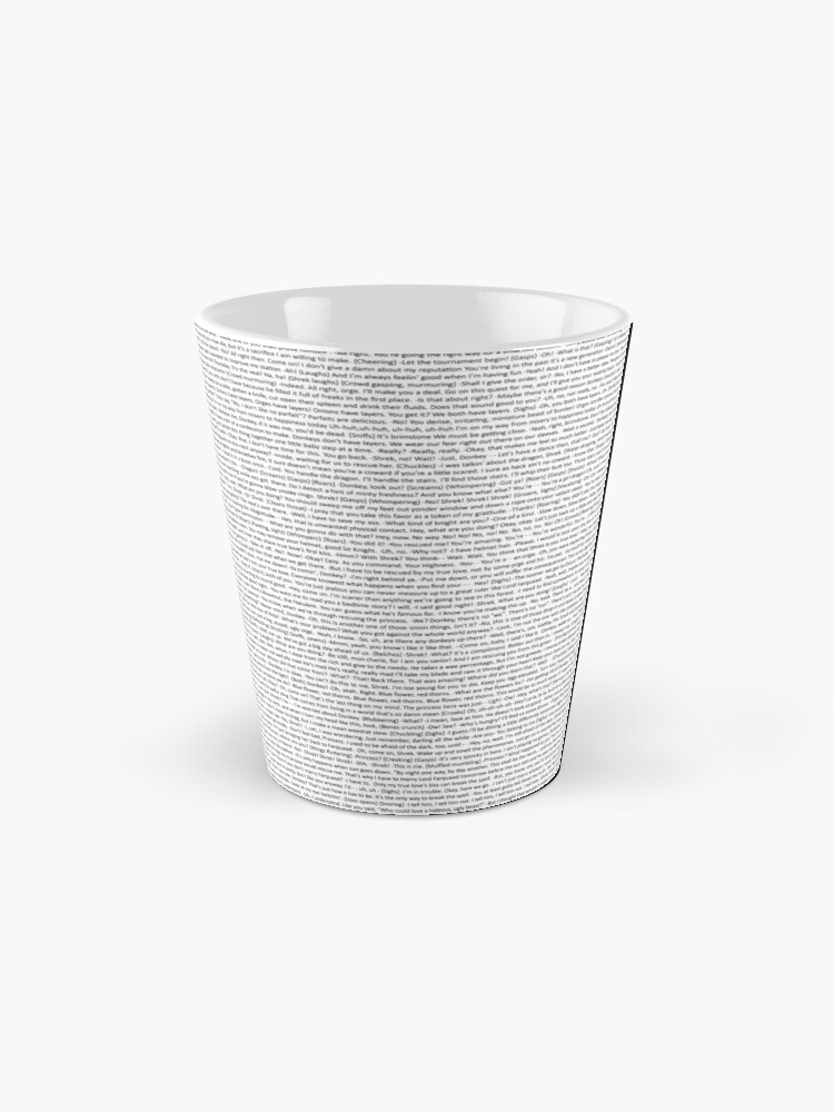 Alternate view of entire shrek script Mug