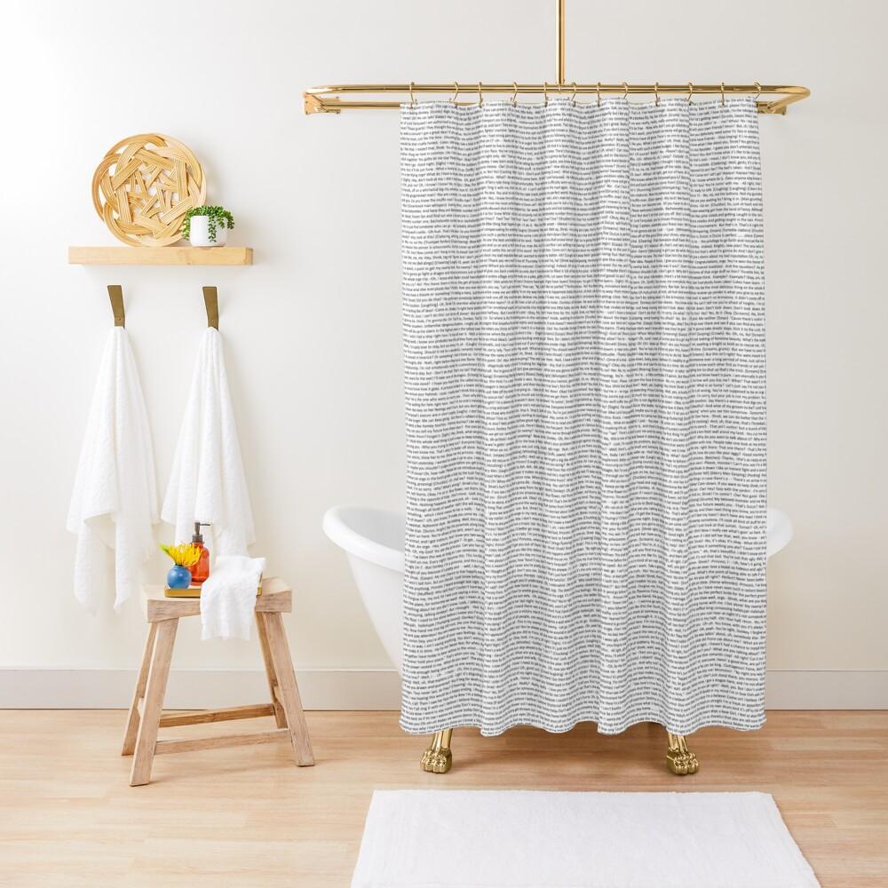 entire shrek script Shower Curtain