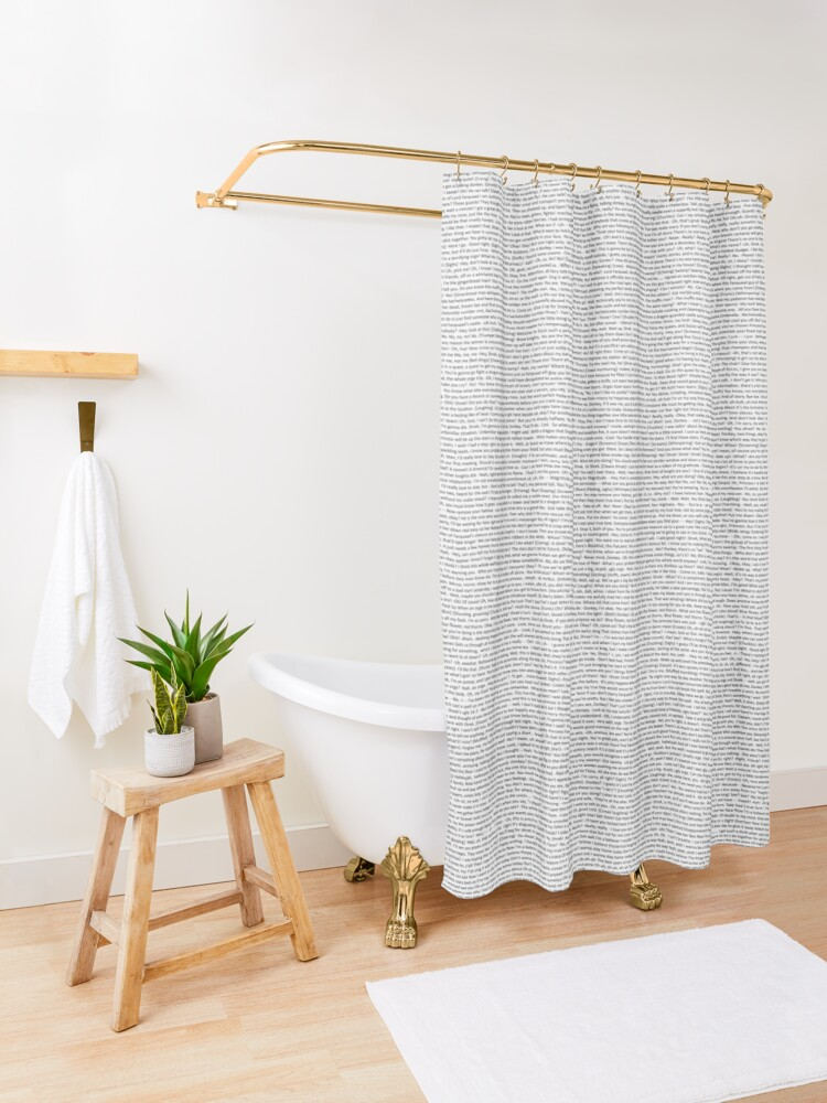 Alternate view of entire shrek script Shower Curtain