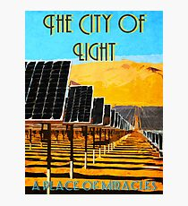 The 100 - Vintage Travel Poster (The City of Light) Photographic Print