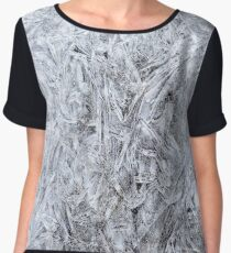 Abstract Ice Texture Chiffon Top