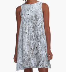 Abstract Ice Texture A-Line Dress