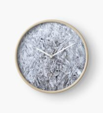 Abstract Ice Texture Clock