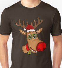 Santa Reindeer - Xmas - Christmas Red Noise Reindeer Unisex T-Shirt