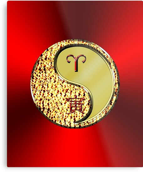 Aries & Tiger Yang Metal by astrodesigner75