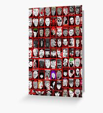 Faces of Horror Collage art Greeting Card
