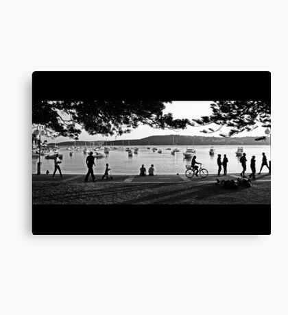 Sunday Afternoon at Manly Cove Canvas Print