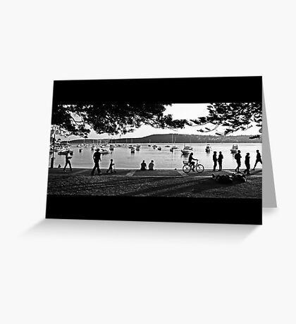 Sunday Afternoon at Manly Cove Greeting Card