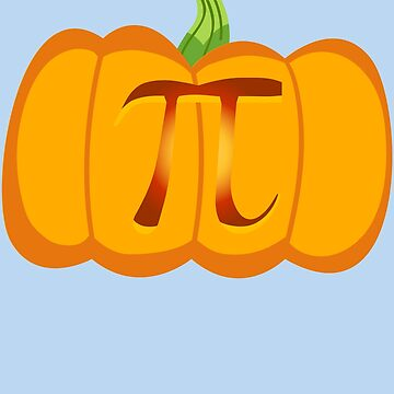 Pumpkin Pi Algebra Math Symbol - Halloween Gift by melsens
