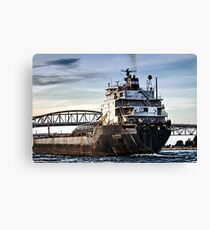 Freighter comming Canvas Print