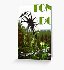 The 100 - Vintage Travel Poster (Ton DC) Greeting Card