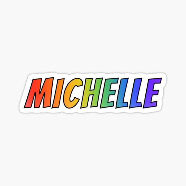 """""""MICHELLE"""" First Name Rainbow Gradient Pattern Sticker"""