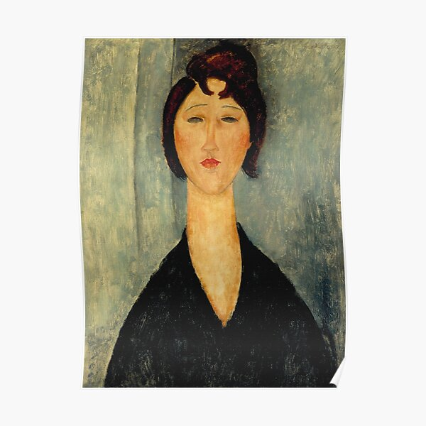 Vintage Amedeo Modigliani Portrait de jeune femme 1918 Poster
