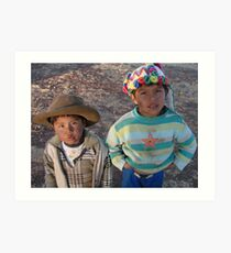 Native Peruvian Boys Art Print