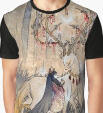 The Wish - Kitsune Fox Deer Yokai Graphic T-Shirt