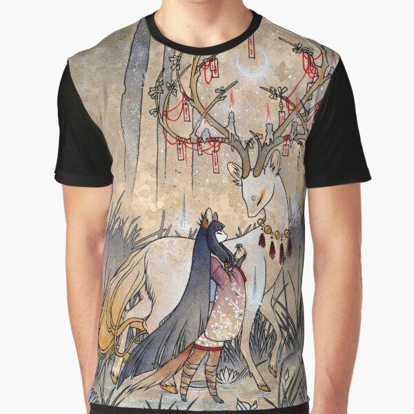 in der Hoffnung, das Reich der hungrigen Geister zu verlassen. Grafik T-Shirt