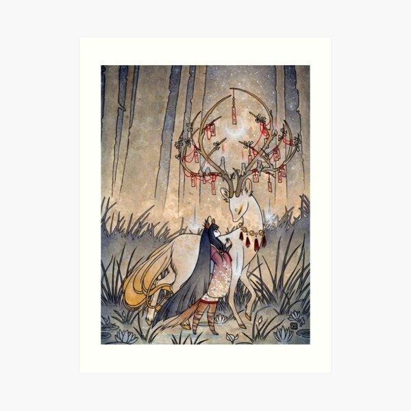 The Wish - TeaKitsune Fox Yokai Art Print