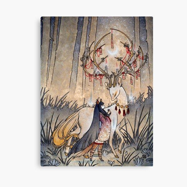 Le souhait - TeaKitsune Fox Yokai Impression sur toile