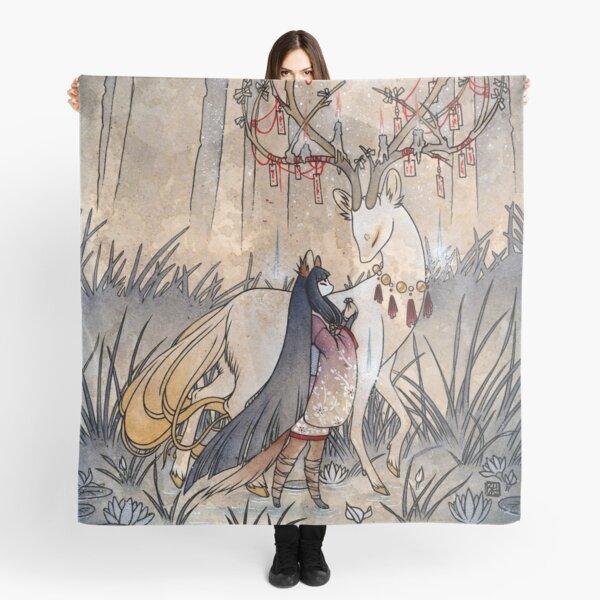 The Wish - Kitsune Fox Deer Yokai Scarf