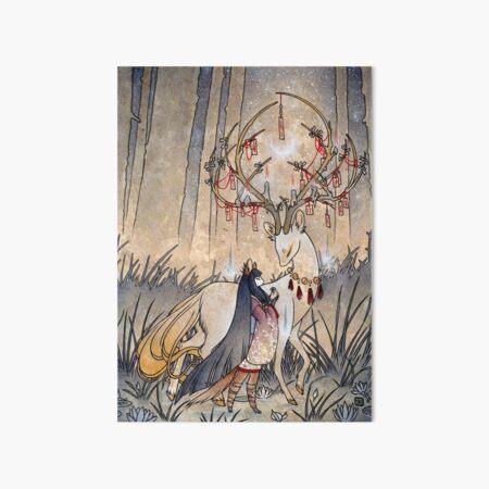 The Wish - TeaKitsune Fox Yokai Art Board Print