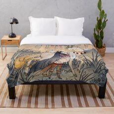Manta El deseo - Kitsune Fox Deer Yokai