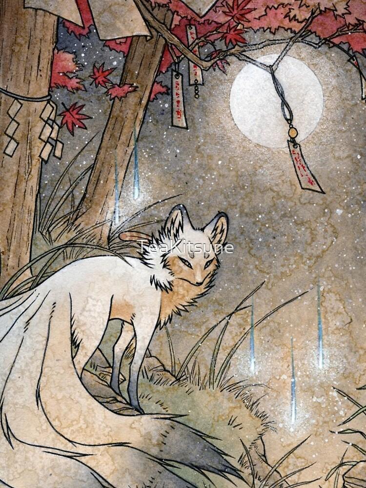Fox & Wisps - TeaKitsune Fox Yokai by TeaKitsune