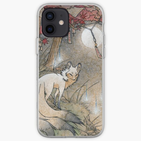 Fox & Wisps - TeaKitsune Fox Yokai Coque souple iPhone