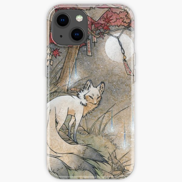 Fox & Wisps - TeaKitsune Fox Yokai iPhone Soft Case