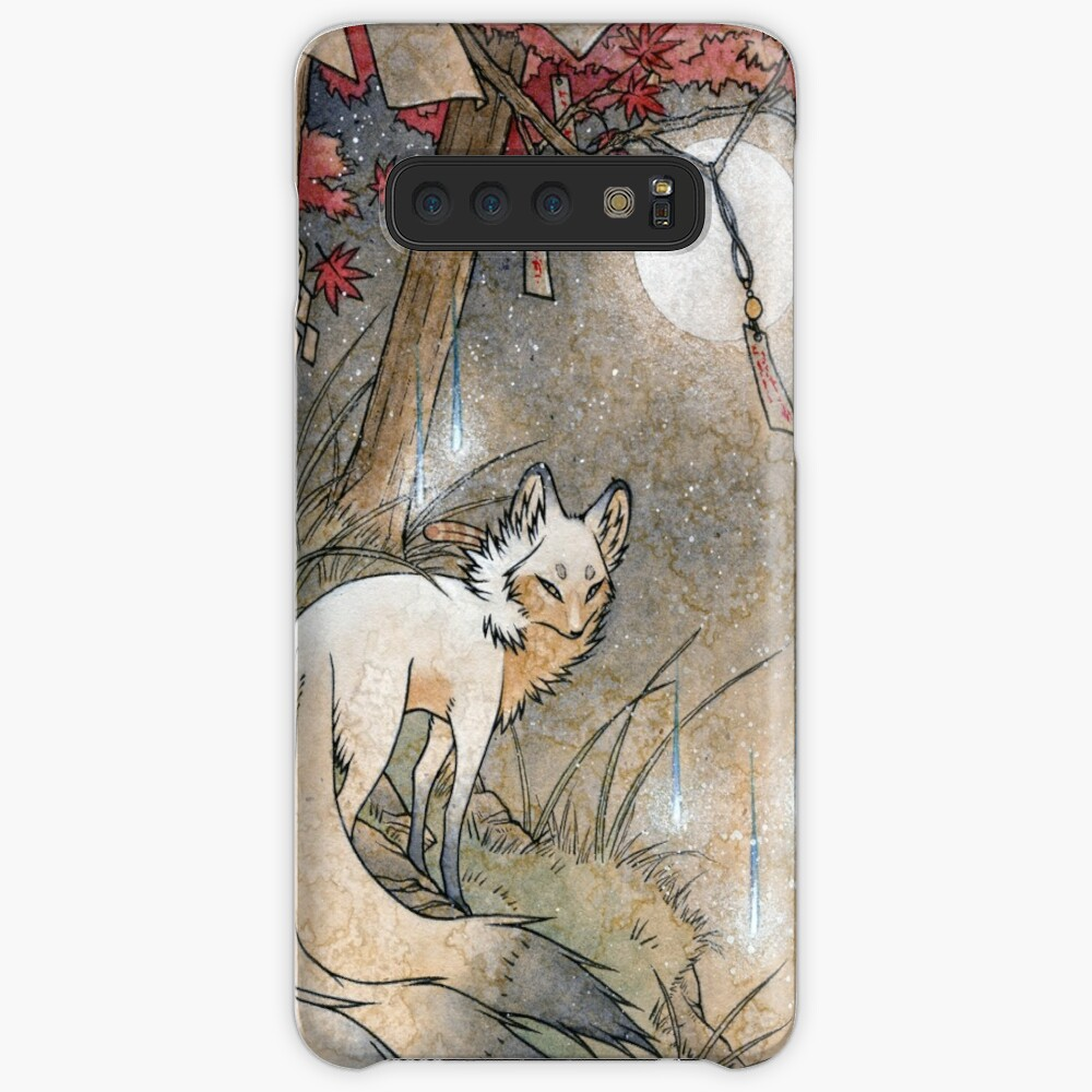 Fox & Wisps - Kitsune Yokai Foxfire  Cases & Skins for Samsung Galaxy