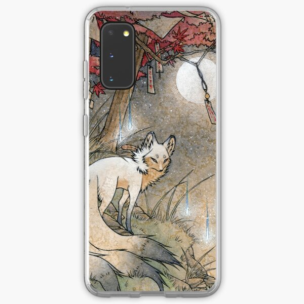 Fox & Wisps - Kitsune Yokai Foxfire  Samsung Galaxy Soft Case