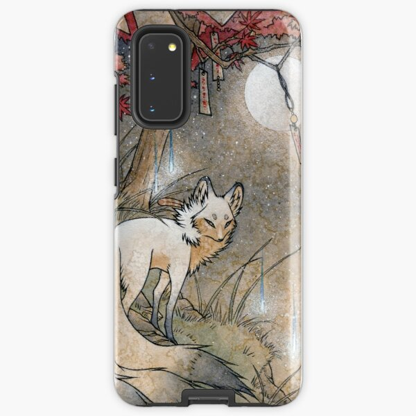 Fox & Wisps - Kitsune Yokai Foxfire  Samsung Galaxy Tough Case