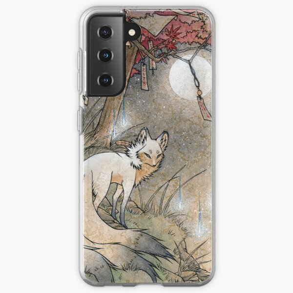 Fox & Wisps - TeaKitsune Fox Yokai Coque souple Samsung Galaxy