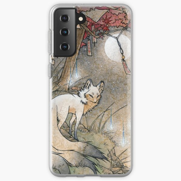 Fox & Wisps - TeaKitsune Fox Yokai Samsung Galaxy Soft Case