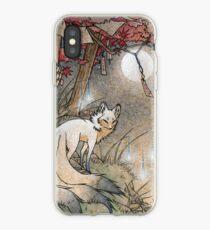 Fox & Wisps - Kitsune Yokai Foxfire  iPhone Case