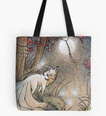 Fox & Wisps - Kitsune Yokai Foxfire  Tote Bag