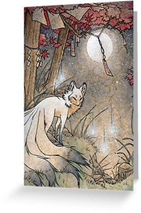 «Fox y Wisps - Kitsune Yokai Foxfire» de TeaKitsune