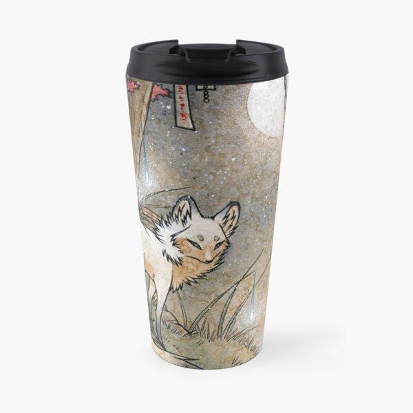 Fox & Wisps - Kitsune Yokai Foxfire  Travel Mug