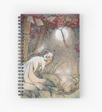 Cuaderno de espiral Fox y Wisps - Kitsune Yokai Foxfire