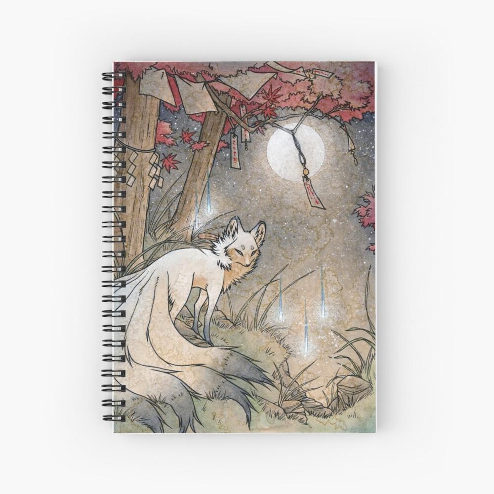 Fox & Wisps - TeaKitsune Fox Yokai Spiral Notebook