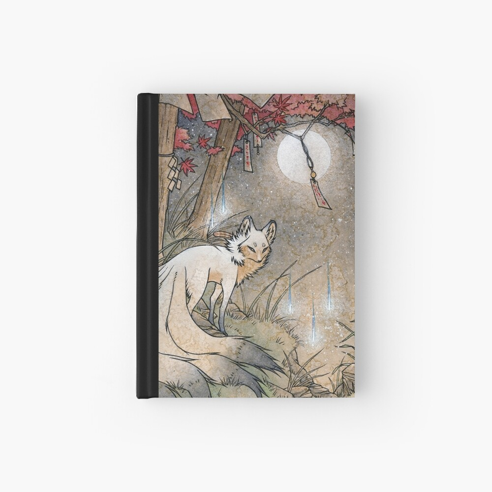 Fox & Wisps - TeaKitsune Fox Yokai Hardcover Journal