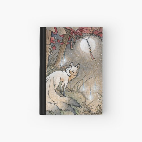 Fox & Wisps - Kitsune Yokai Foxfire  Hardcover Journal