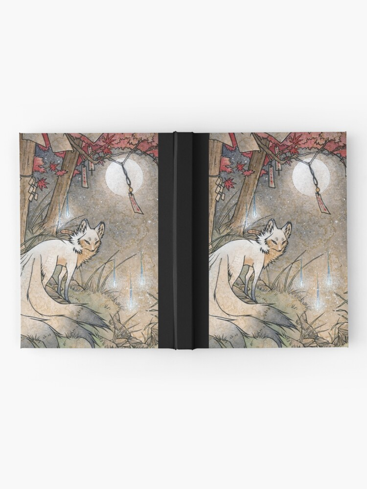 Alternate view of Fox & Wisps - TeaKitsune Fox Yokai Hardcover Journal