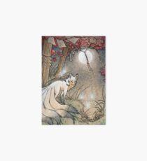 Fox & Wisps - Kitsune Yokai Foxfire  Art Board